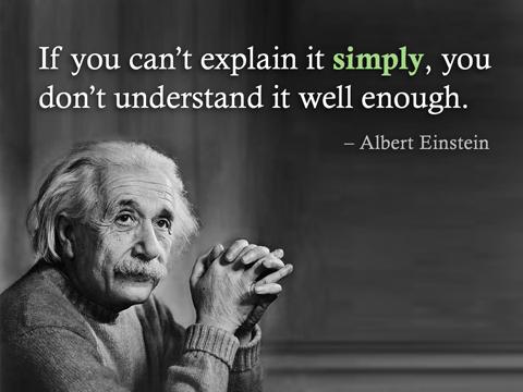 Albert Einstein Simplicity