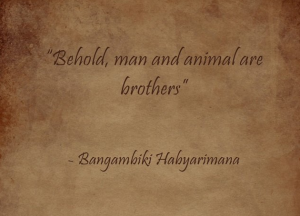 Man and Animal are brothers