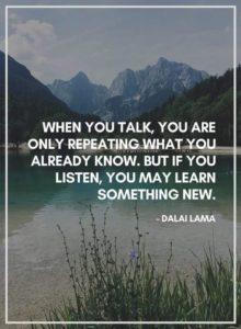 Talk vs Listen