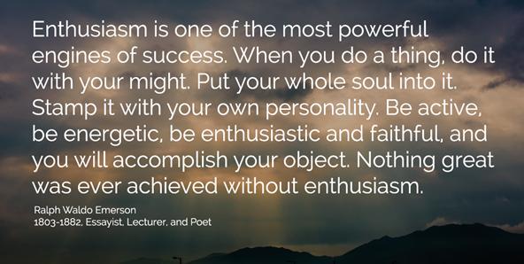 enthusiasm --