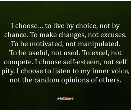 i choose quote