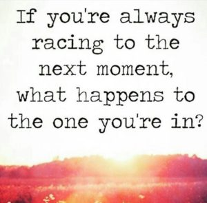 If you are always racing